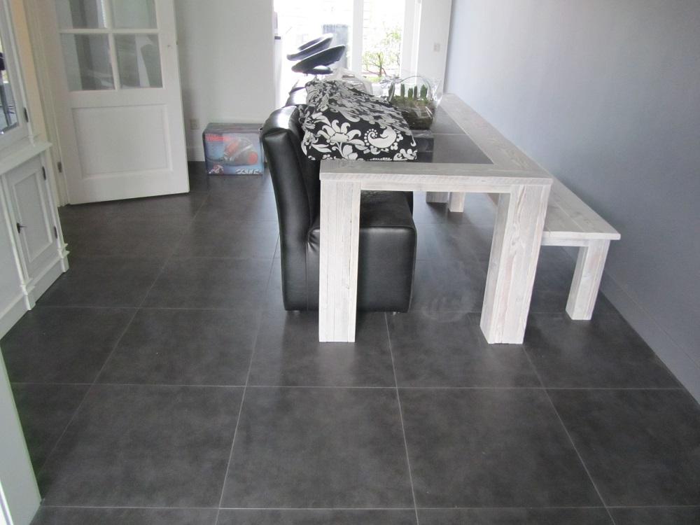 Antraciet Vloertegels 60x60.Vloertegel 60x60 Cm Cementi Graphite