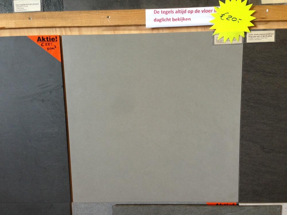 Terrastegels 60x60 Grijs.Vloertegel 60x60 Cm Living Grijs