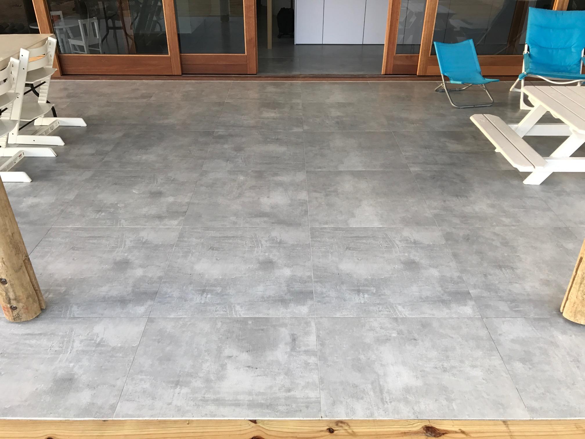 Terrastegels 80x80 Beton.Vloertegel 80x80 Cm Design Beton Grijs Cr4