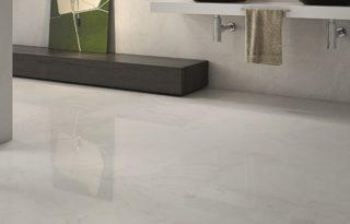 marmerlook beige hooigglans vloertegel zeer geschikt voor vloerverwarming
