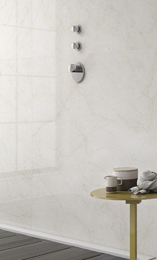 badkamer wandtegels marmerlook beige 60x60 cm