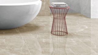 marmerlook bruin beige 75x75 cm tegels als vloer- en wandtegels te gebruiken
