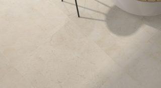 woonkamer marmerlook tegels 75x75 cm beige G21