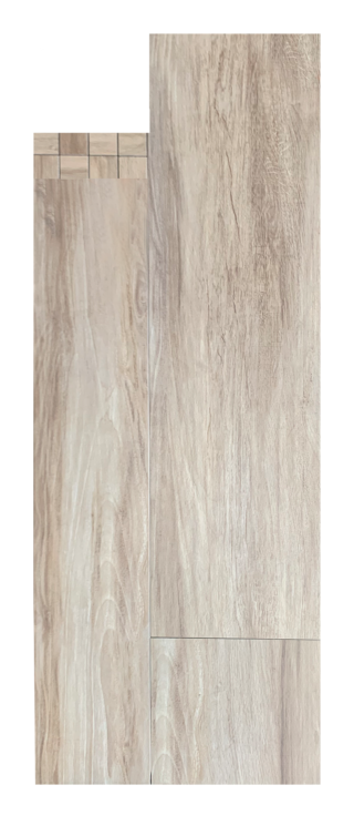 Houtlook tegel 30x120 cm Honing Bruin E7 is mooi op de vloer en wand
