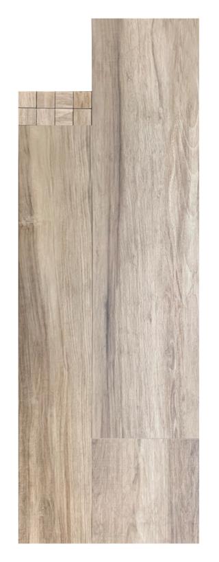 Keramisch parket 20x120 cm Licht Bruin E6 is mooi op de vloer en wand