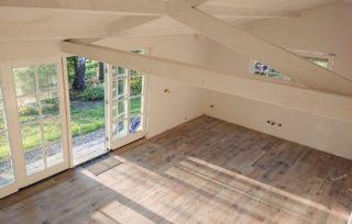 Keramisch parket 30×120 cm Flaviker Dakota in de woonkamer