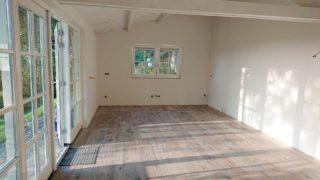 Keramisch parket 30×120 cm Flaviker Dakota woonkamer van een klant