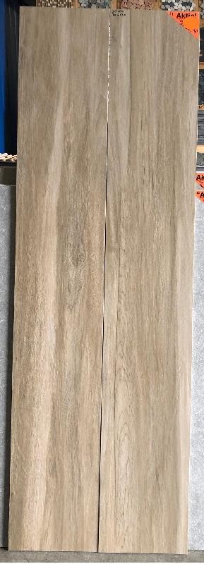 Keramisch parket 30x180 cm bruin met noesten