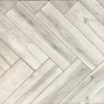 Keramisch parket visgraat 15x60 cm Grigio grijs DC 7 is mooi op de vloer en wand