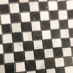 Mozaik restpartij zwart wit