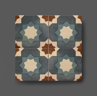 Vloertegel 15×15 cm bloemen patroon blauw A152 is mooi op de vloer en wand