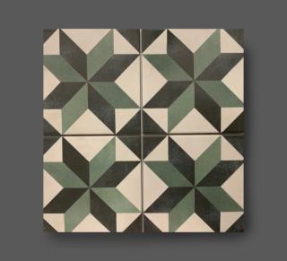 Vloertegel 15×15 cm patroon groen wit A151 is mooi op de vloer en wand