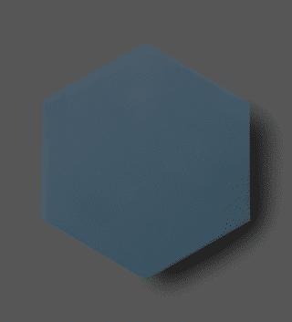 Vloertegel 15x17 cm Hexagon Donkerblauw C165 Is geschikt op de vloer en wand.