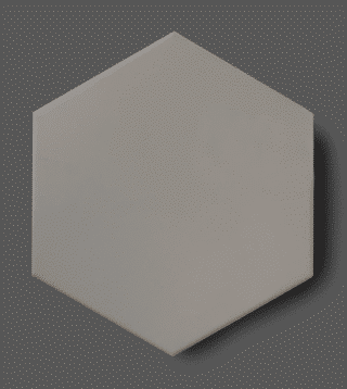 Vloertegel 15x17 cm Hexagon Grijs C160 Is geschikt op de vloer en wand.
