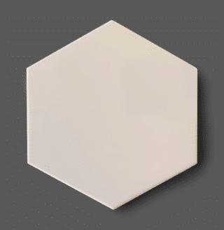 Vloertegel 15x17 cm Hexagon Ivoorwit C166 Is geschikt voor in de badkamer, keuken of in het toilet.