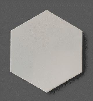 Vloertegel 15x17 cm Hexagon Parelgrijs C162 Is geschikt op de vloer en wand.