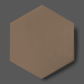 Vloertegel 15x17 cm Hexagon Taupe C161 Is geschikt op de vloer en wand.