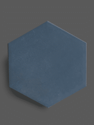 Vloertegel 23×26 cm Hexagon Blauw A300 is geschikt op de vloer en wand