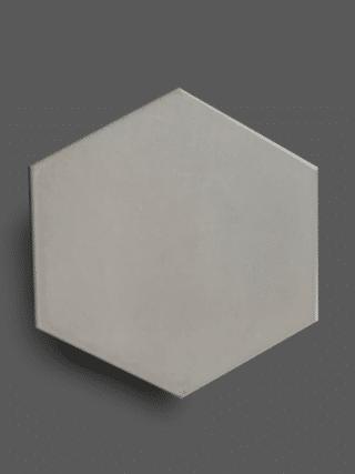 Vloertegel 23×26 cm Hexagon Licht Grijs A306 is geschikt op de vloer en wand