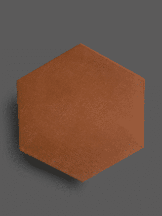 Vloertegel 23×26 cm Hexagon Rood A312 is geschikt op de vloer en wand