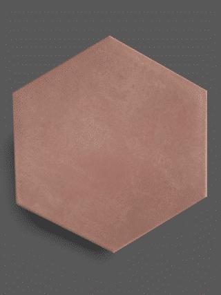 Vloertegel 23×26 cm Hexagon Roze A310 is geschikt op de vloer en wand