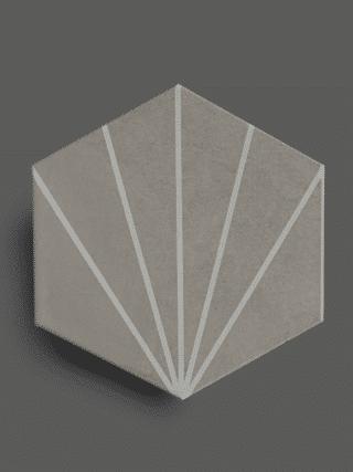 Vloertegel 23×26 cm Hexagon Streep Grijs A305 is geschikt op de vloer en wand