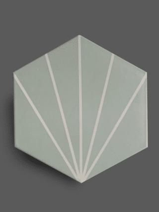 Vloertegel 23×26 cm Hexagon Streep Groen A303 is geschikt op de vloer en wand