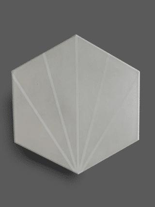 Vloertegel 23×26 cm Hexagon Streep Licht Grijs A307 is geschikt op de vloer en wand