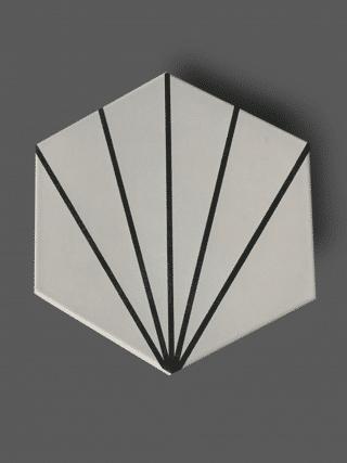 Vloertegel 23×26 cm Hexagon Streep Wit A309 is geschikt op de vloer en wand