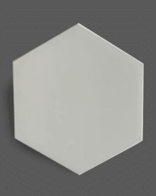 Vloertegel 23×26 cm Hexagon Wit A308 is mooi op de geschikt en wand