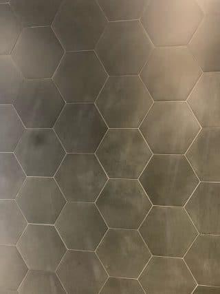 Vloertegel 23×26 cm Hexagon Zwart A314