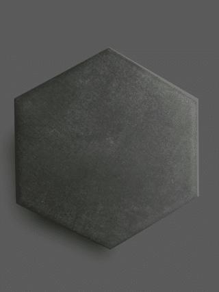 Vloertegel 23×26 cm Hexagon Zwart A314 is geschikt op de vloer en wand