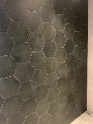 Vloertegel 23×26 cm Hexagon Zwart A314 ook in meerdere kleuren verkrijgbaar
