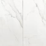 Vloertegel 30x60 cm Statuario Marmerlook Mat Wit C20 is mooi op de vloer en wand.