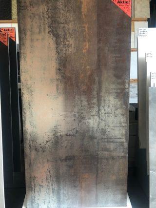 Metallook roest bruin vloertegel 60x120 cm