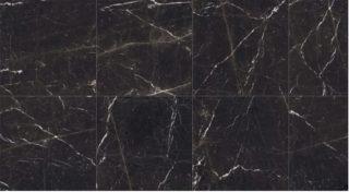 Vloertegel 60x120 cm Marmerlook Antraciet MAT CC4 met witte adders als woonkamer vloer