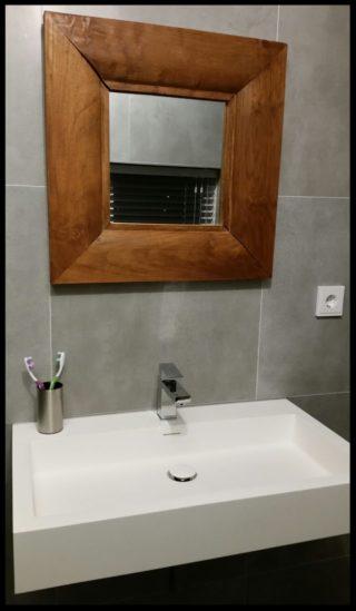 Vloertegel 60x60 cm betonlook Fairy Grijs H97 als wandtegels in de badkamer