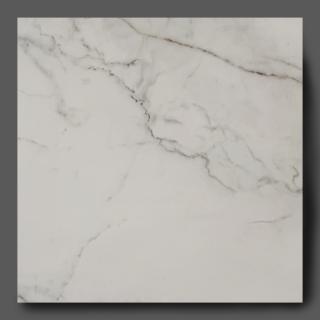 Vloertegel 80×80 cm Marmerlook Wit mat DC55 is ook leverbaar in 30x60 cm, 60x60 cm en 60x120 cm. Ook in gepolijst leverbaar in 30x60 cm, 60x60 cm, 80x80 cm en 80x160 cm. Deze marmerlook tegel bevat grijze en bruine aders, deze tegels zijn bijna niet te onderscheiden van origineel marmer. Gebruik deze gerectificeerde tegels op de vloer en wand.