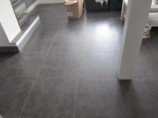 Vloertegel 80x80 cm cementi graphite betonlook antraciet nr 22 woonkamer vloertegels