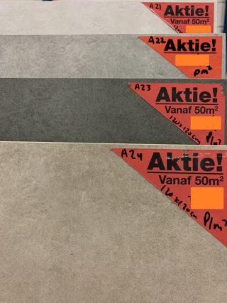 Vloertegel betonlook Lux A21, A22, A23, A24 in meerdere maten leverbaar