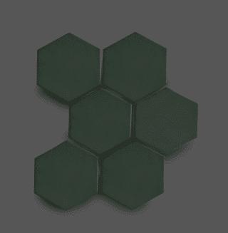 Wandtegel 10×11 cm Hexagon Donker Groen A265 Is geschikt voor in de badkamer, de keuken of het toilet
