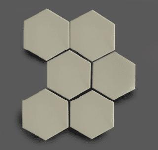 Wandtegel 10×11 cm Hexagon Grijs A261 Is geschikt voor in de badkamer, de keuken of het toilet