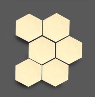 Wandtegel 10×11 cm Hexagon Ivoor A263 Is geschikt voor in de badkamer, de keuken of het toilet