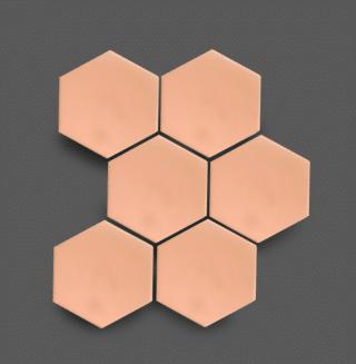 Wandtegel 10×11 cm Hexagon Licht Roze A264 Is geschikt voor in de badkamer, de keuken of het toilet