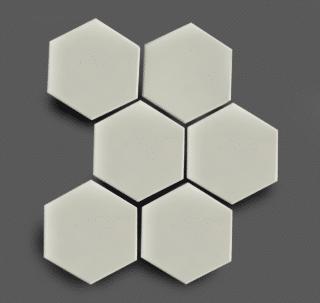 Wandtegel 10×11 cm Hexagon Wit A260 Is geschikt voor in de badkamer, de keuken of het toilet