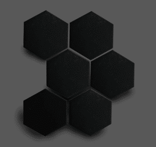 Wandtegel 10×11 cm Hexagon Zwart A262 Is geschikt voor in de badkamer, de keuken of het toilet