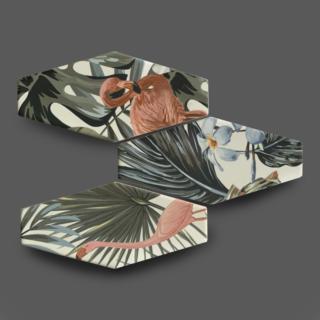 Wandtegel 10×20 cm Flamingo A278 Is geschikt voor in de badkamer, keuken of in het toilet.