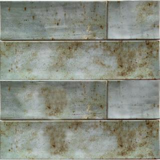 Wandtegel 10×40 cm groen roest A91 is geschikt voor badkamer, keuken of toilet