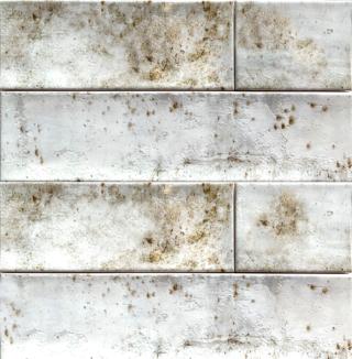 Wandtegel 10×40 cm wit roest A93 voor badkamer, keuken of toilet