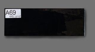 Wandtegel 10x30 cm zwart A69 voor badkamer, keuken of toilet